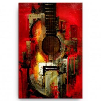 Quadro Decorativo Sala Violão Guitarra Música Aquarela Lindo