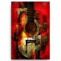 Quadro Decorativo Sala Violão Guitarra
