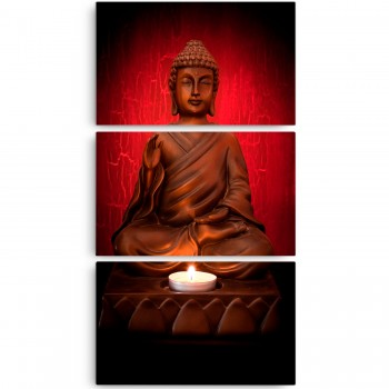 Quadro Decorativo Buda Red Vertical