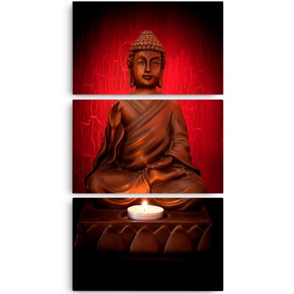 Quadro Decorativo Buda Red Vertical