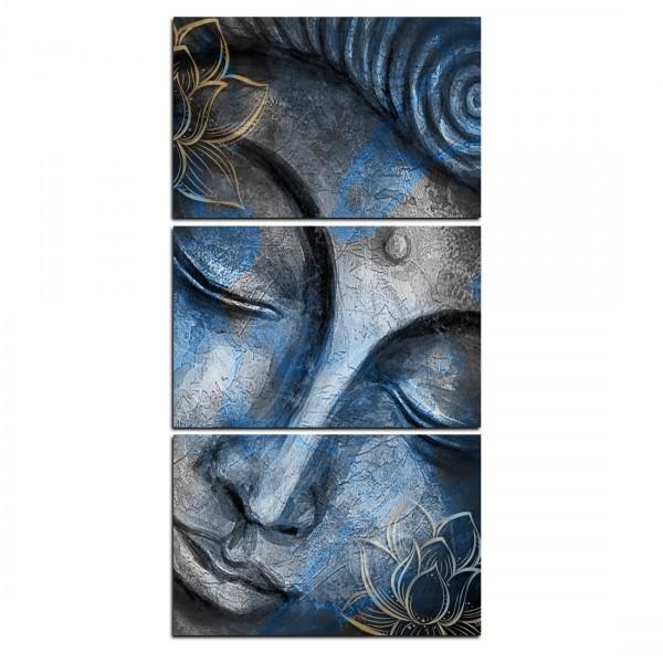 Quadros Decorativo Buda Blue Vertical