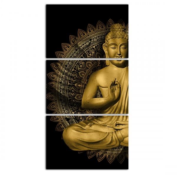 """""""Quadros Decorativo Buda Dourado Vertical"""
