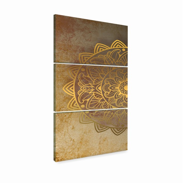 """Quadros Decorativo Mandala Gold"