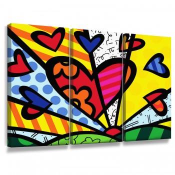 """Quadros Decorativos Romero Britto Heart"