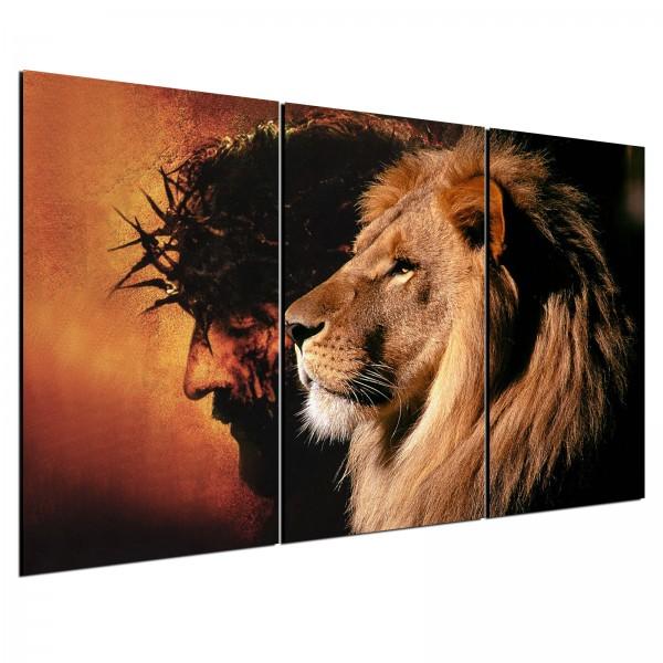 """""""Quadro Decorativo Jesus e Leão de Juda"""