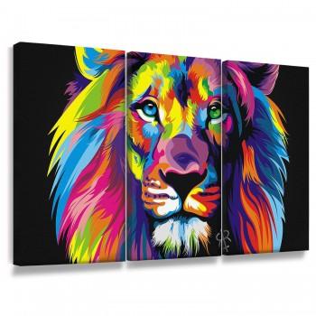"""""""Quadros Decorativos Leão Colors"""