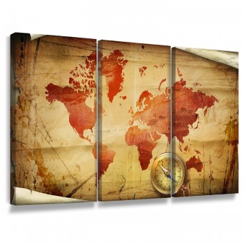 """Quadros Decorativo Mapa Mundi Black"