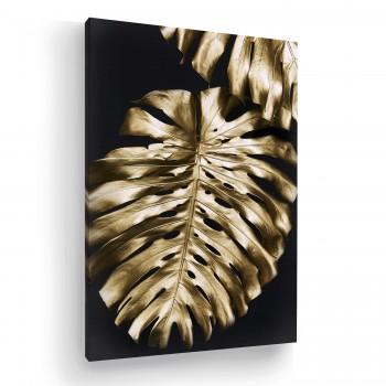 Quadro Decorativo Sala Flores Arte Escritório Gold Tela